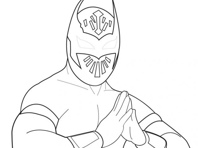 Get This Printable wwe coloring pages sin cara 31906
