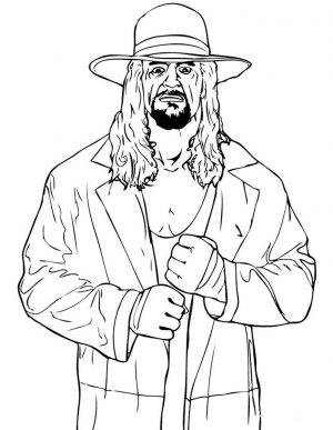 Printable wwe coloring pages undertaker – 37841