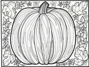 Pumpkin Coloring Pages for Adults Free – 316ca