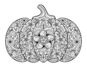 Pumpkin Coloring Pages for Adults Printable – 72156