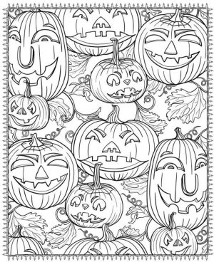 Pumpkin Coloring Pages for Adults Printable – 7cv31