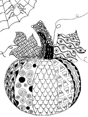 Pumpkin Coloring Pages for Adults Printable – 7cv41