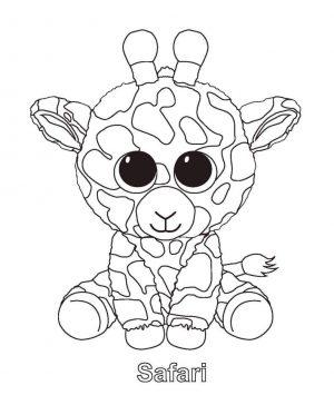 Safari Beanie Boo Coloring Pages dsz4