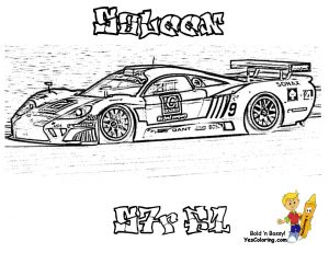 Saleen Nascar racing car coloring pages for boys – 45619