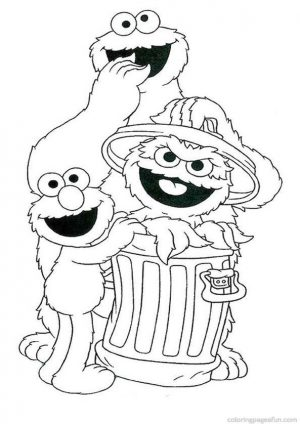 Sesame Street Coloring Pages Free Printable – 67290