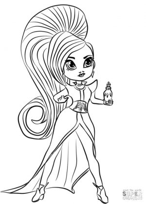 Shimmer and Shine Coloring Pages Free jha2