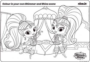 Shimmer and Shine Coloring Pages Printable hjj7