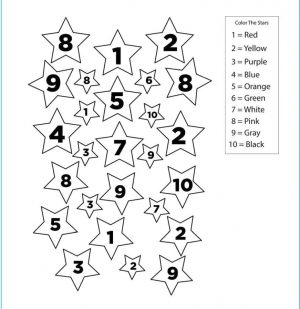 Star Coloring Pages Color by Number Printable