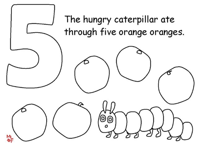 Very Hungry Caterpillar Coloring Pages Coloring Book of Coloring