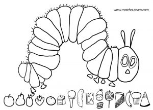 The Very Hungry Caterpillar Coloring Pages Free for Kids – 34675