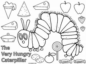 The Very Hungry Caterpillar Coloring Pages Free for Kids – 52899
