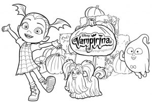 Vampirina Coloring Pages Disney Junior Printable