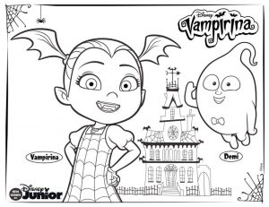 Vampirina Coloring Pages Vampirina and Demi