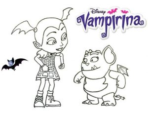 Vampirina Coloring Pages Vampirina and Gregoria