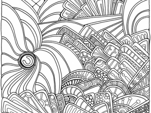 Abstract Halloween Coloring Pages : Get this abstract coloring pages to print for grown ups