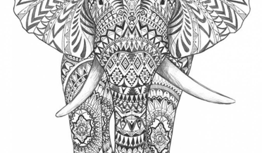 coloring pages for adults abstract elephant | Get This Abstract Elephant Coloring Pages 77421