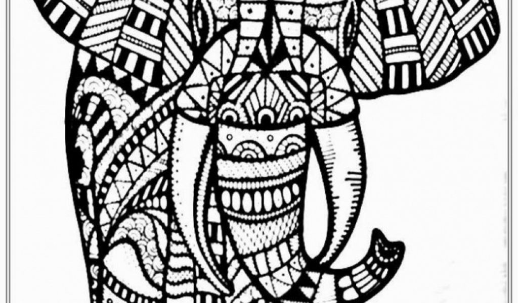coloring pages for adults abstract elephant | Get This Abstract Elephant Coloring Pages 8963421