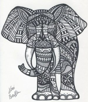 Abstract Elephant Coloring Pages   99537