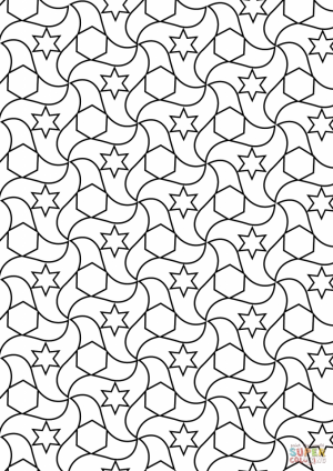 Adult Printable Tessellation Coloring Pages   81996