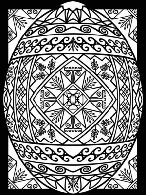 Adults Printable Easter Egg Coloring Pages   77582