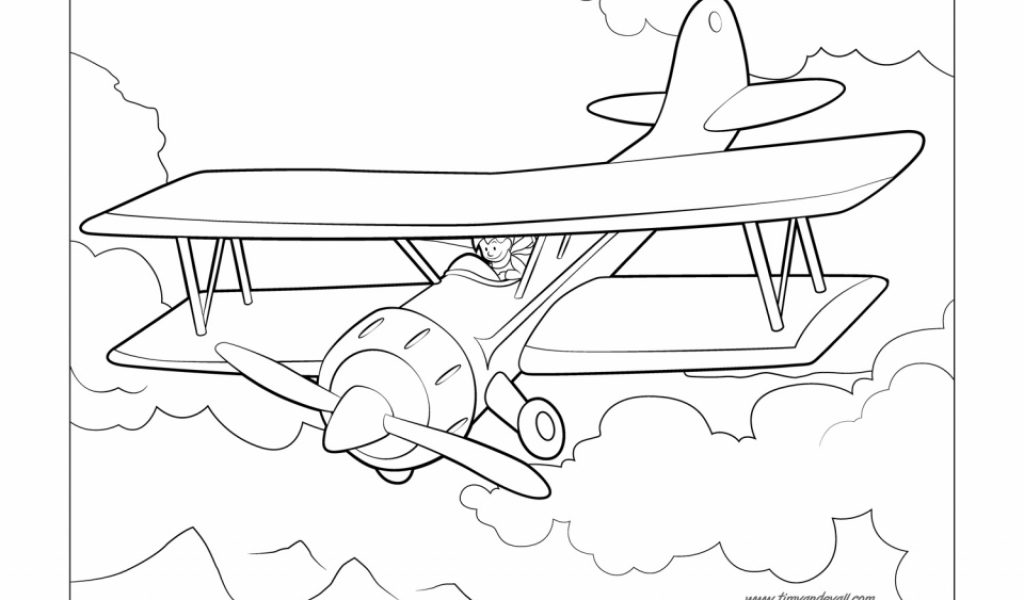 Get this airplane coloring pages free printable 9881 for Airplane coloring pages to print for free