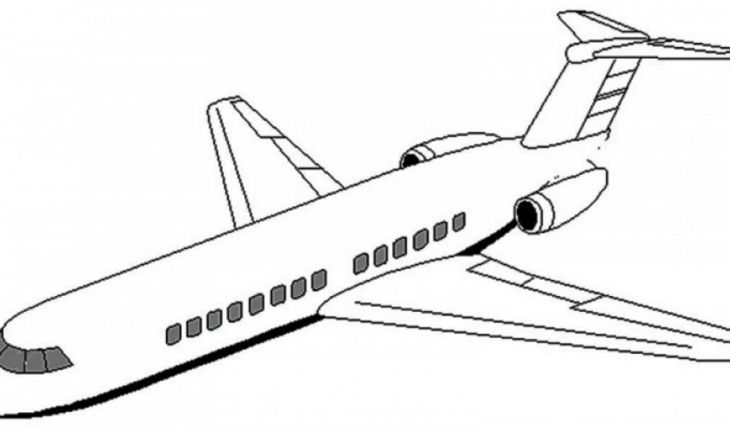 boeing 767 airplane coloring page transportation printable - Airplane Coloring Pages Printable