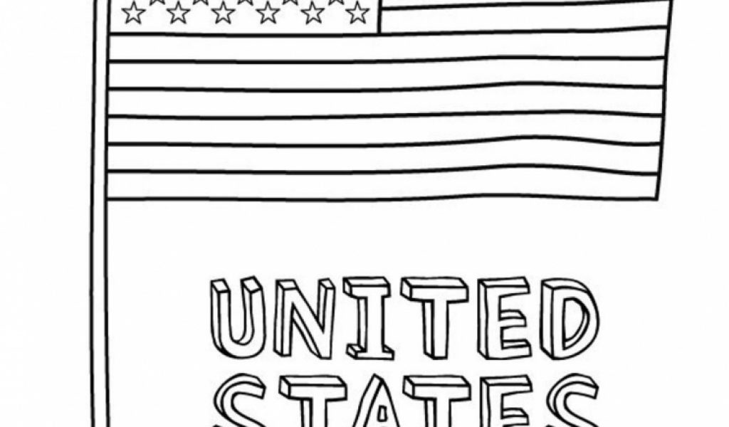 Usa Flag Coloring Pages United States Of America Map Coloring