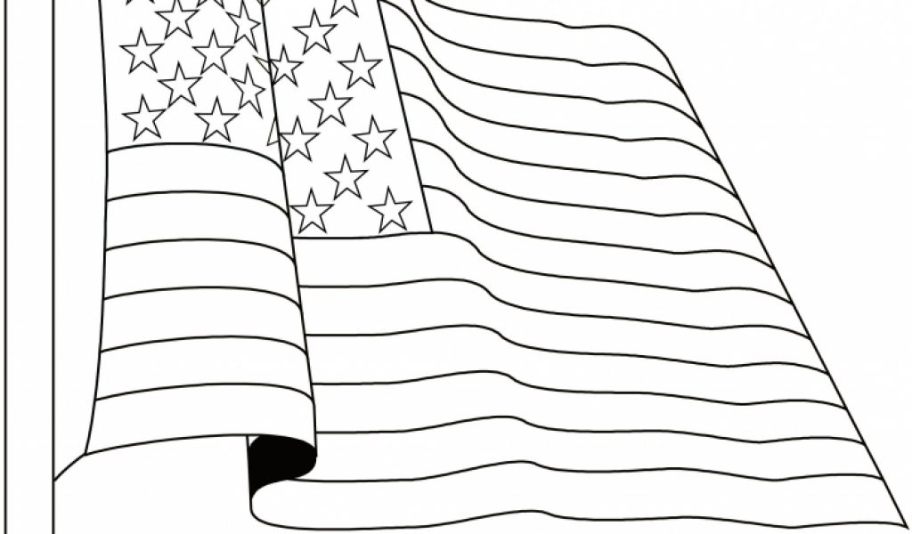 Get This American Flag Coloring Pages Printable 78532