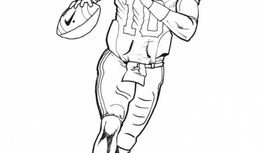 american football player coloring pages - photo#12