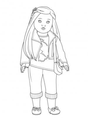 American Girl Coloring Pages Free Printable   u043e