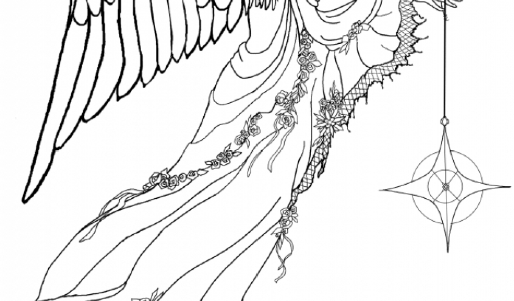 Stunning Angel Coloring Pages For Adults Gallery Printable