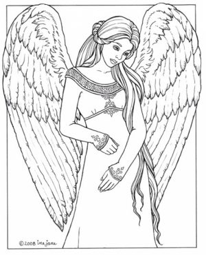 Angel Coloring Pages for Adults   88DFF6