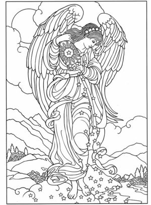 Angel Coloring Pages for Adults   94CY6