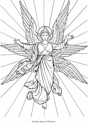 Angel Fantasy Coloring Pages for Adults   4DC5N