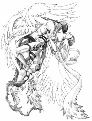Angel Fantasy Coloring Pages for Adults   6543CV