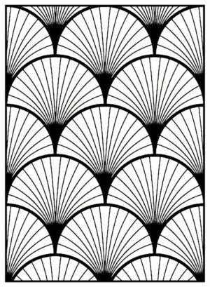 Art Deco Patterns Coloring Pages for Adults Free to Print   24598bh
