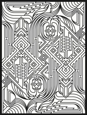 Art Deco Patterns Coloring Pages for Adults