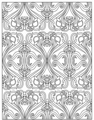 Art Deco Patterns Coloring Pages for Adults to Print   fu89mkl