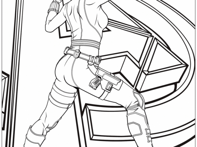 avengers coloring pages black widow - photo#8