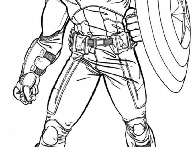 Get This Avengers Coloring Pages Captain America Printable 96416