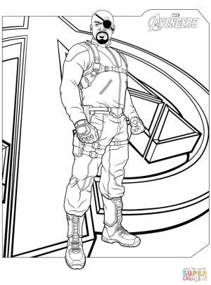 Avengers Coloring Pages Fury   98631