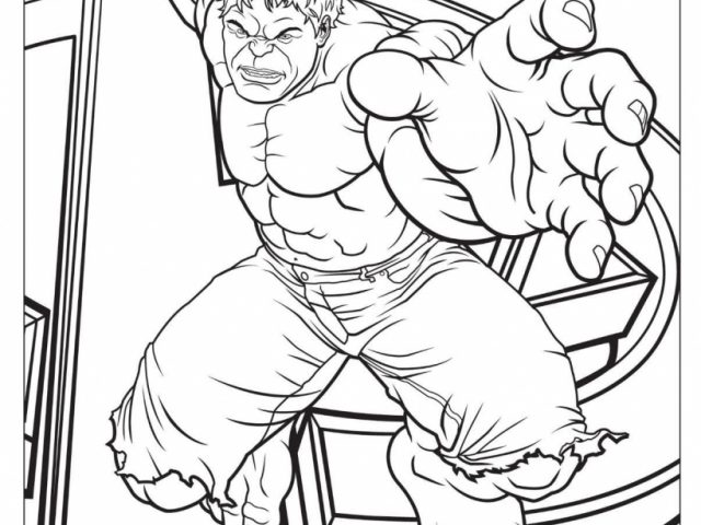 Childrens Colouring Pages Avengers Get This Coloring Hulk 56831