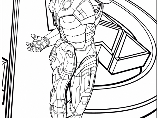 Get This Avengers Coloring Pages Iron Man 12575