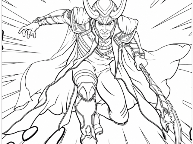 avengers coloring pages loki - photo#10