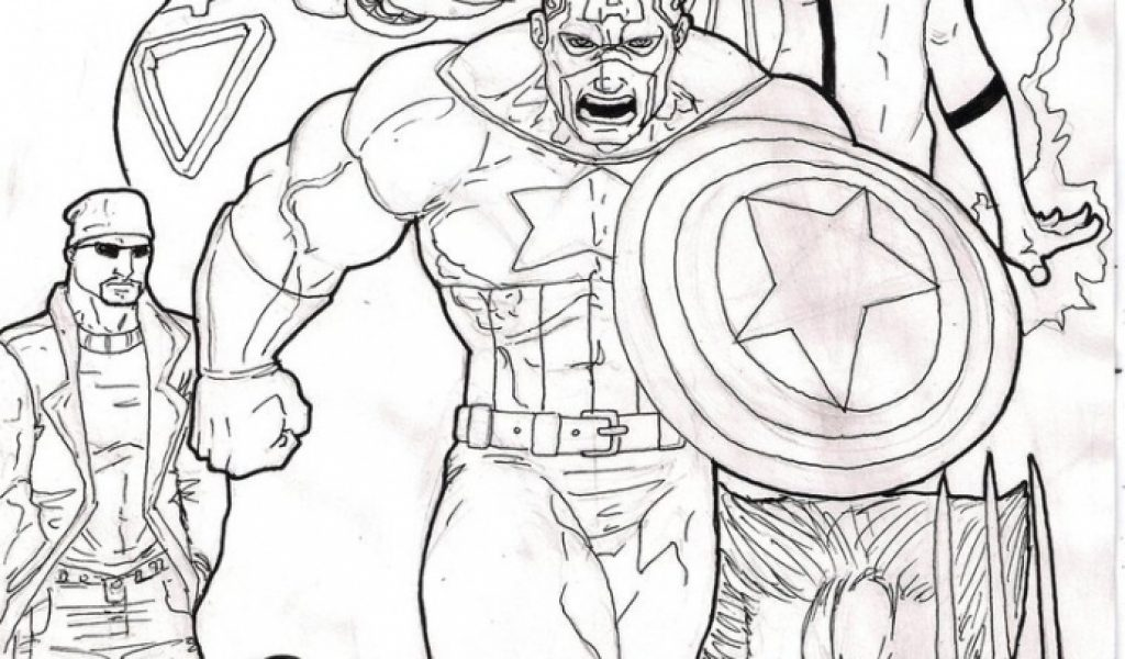avengers coloring pages a4 - photo#3
