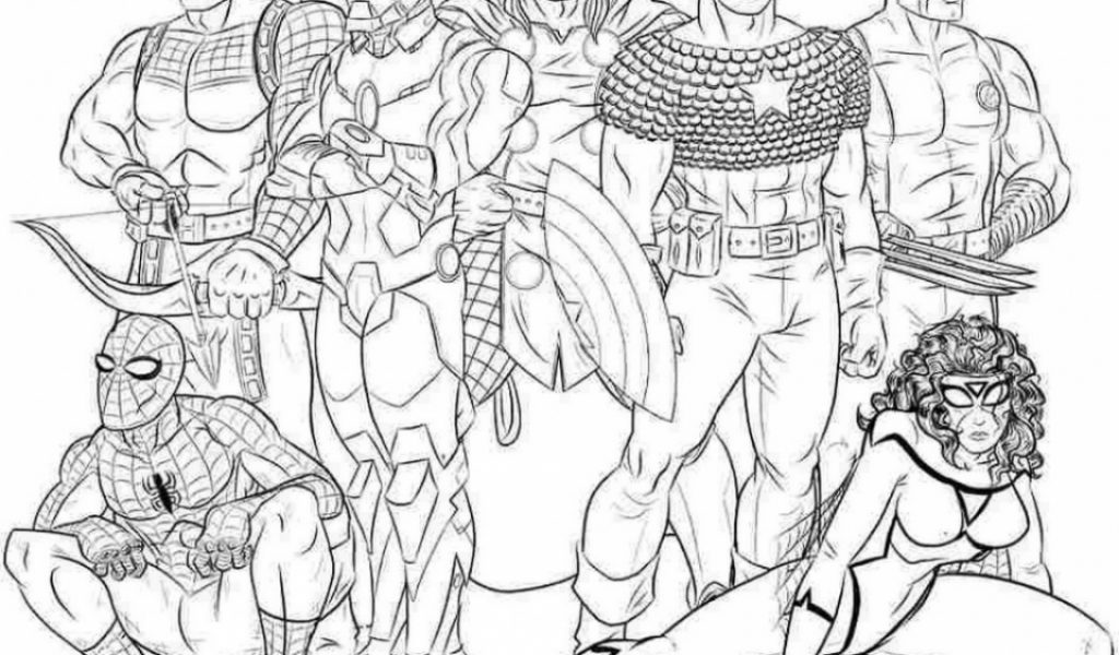 Free Colouring Pages Avengers Get This Coloring To Print For 75931