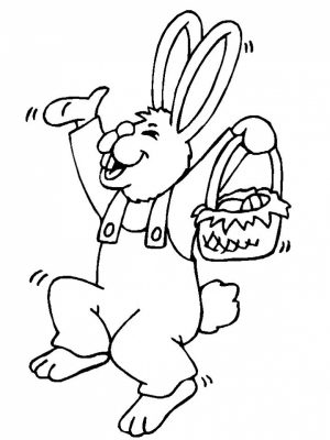 Baby Bunny Coloring Pages for Toddlers   85019