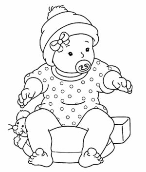 Baby Coloring Pages Free   yabn3