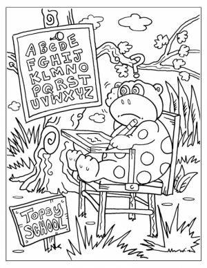 Back to School Coloring Pages for Toddlers   85571
