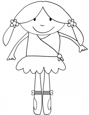 Ballerina Coloring Pages for Kids   98537